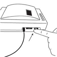 CRP-Testverfahren Piktogramm: Gerät einschalten