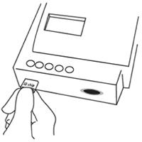 CRP-Testverfahren Piktogramm: ID Chip Einführen